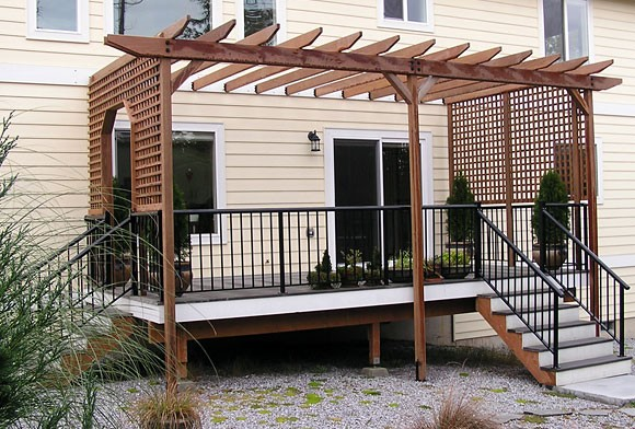 how to build a pergola on your existing deck