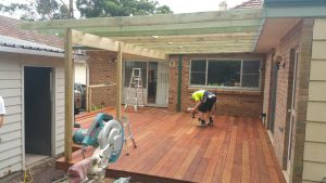 Composite decking and timber