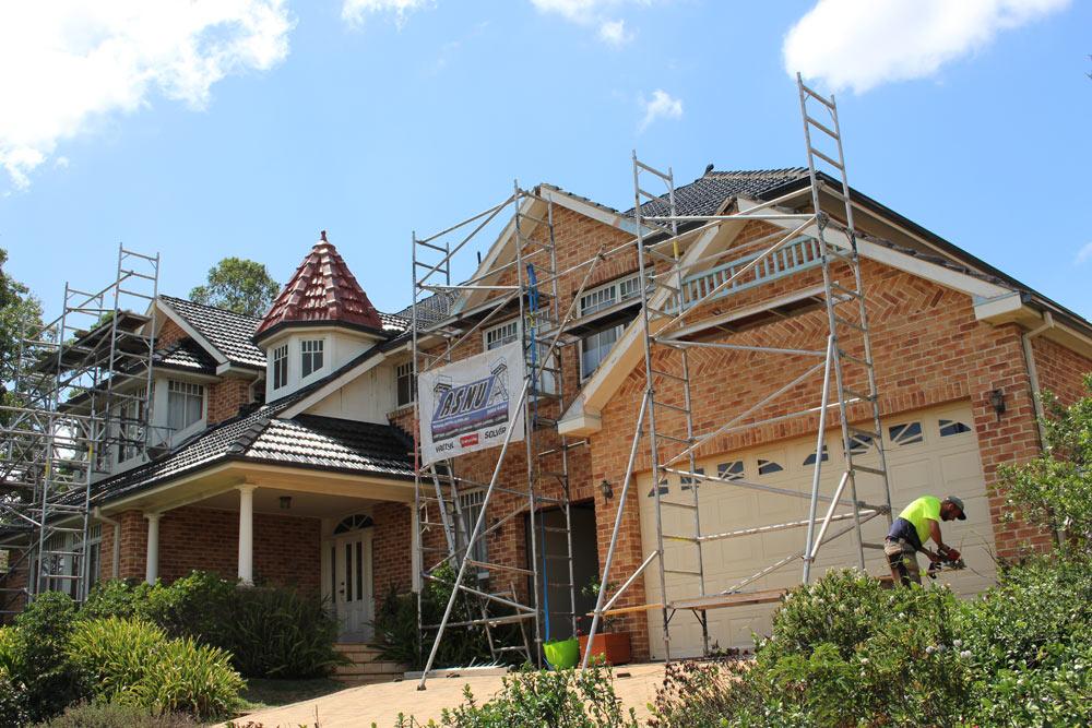 ASNU Licensed Scaffolding Company uses Scaffolding on Sydney homes
