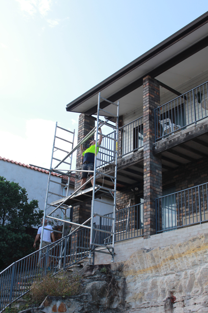 ASNU Licensed Scaffolding Company uses Scaffolding on Sydney Homes Jobs over 4 meters