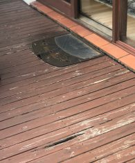 Damaged Timber Deck Before