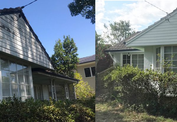 House Painted White Before and After