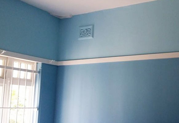 Interior House Painting Blue Bedroom