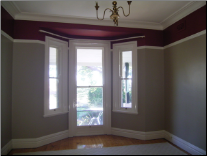 Red interior house painting sydney