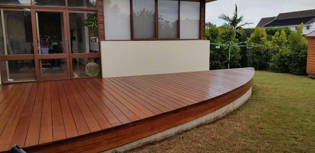 Round Timber Deck