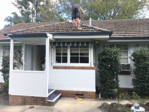 Sydney Brick House Painted White