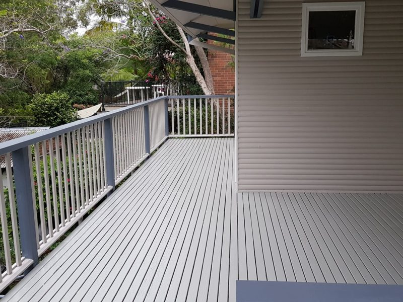 Painted Timber Deck ASNU Home Improvements Sydney