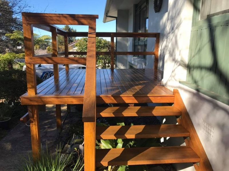 Timber Deck Repaired and Stained
