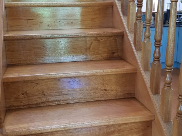 Timber Stairs Stained ASNU Sydney