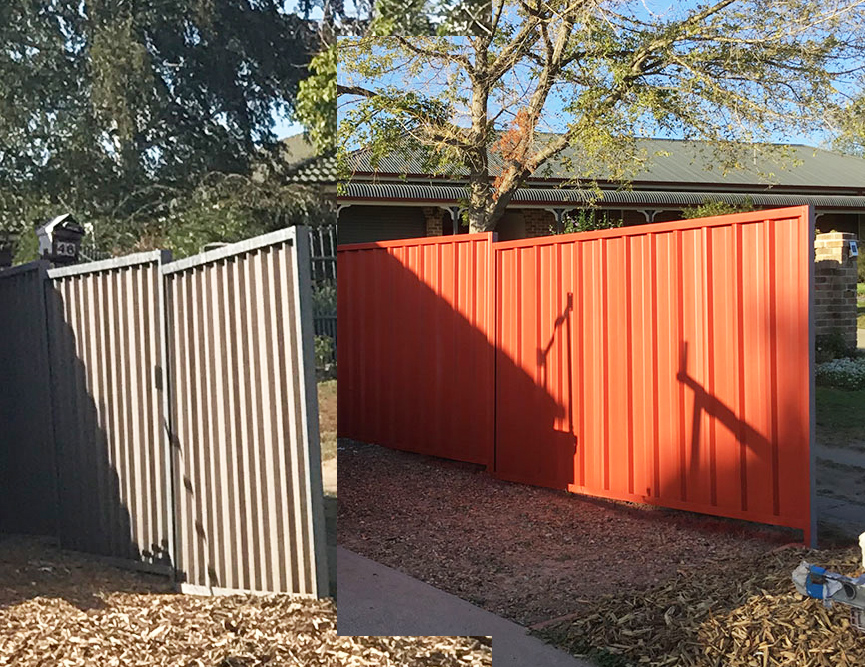 Colourbond Fence Painting