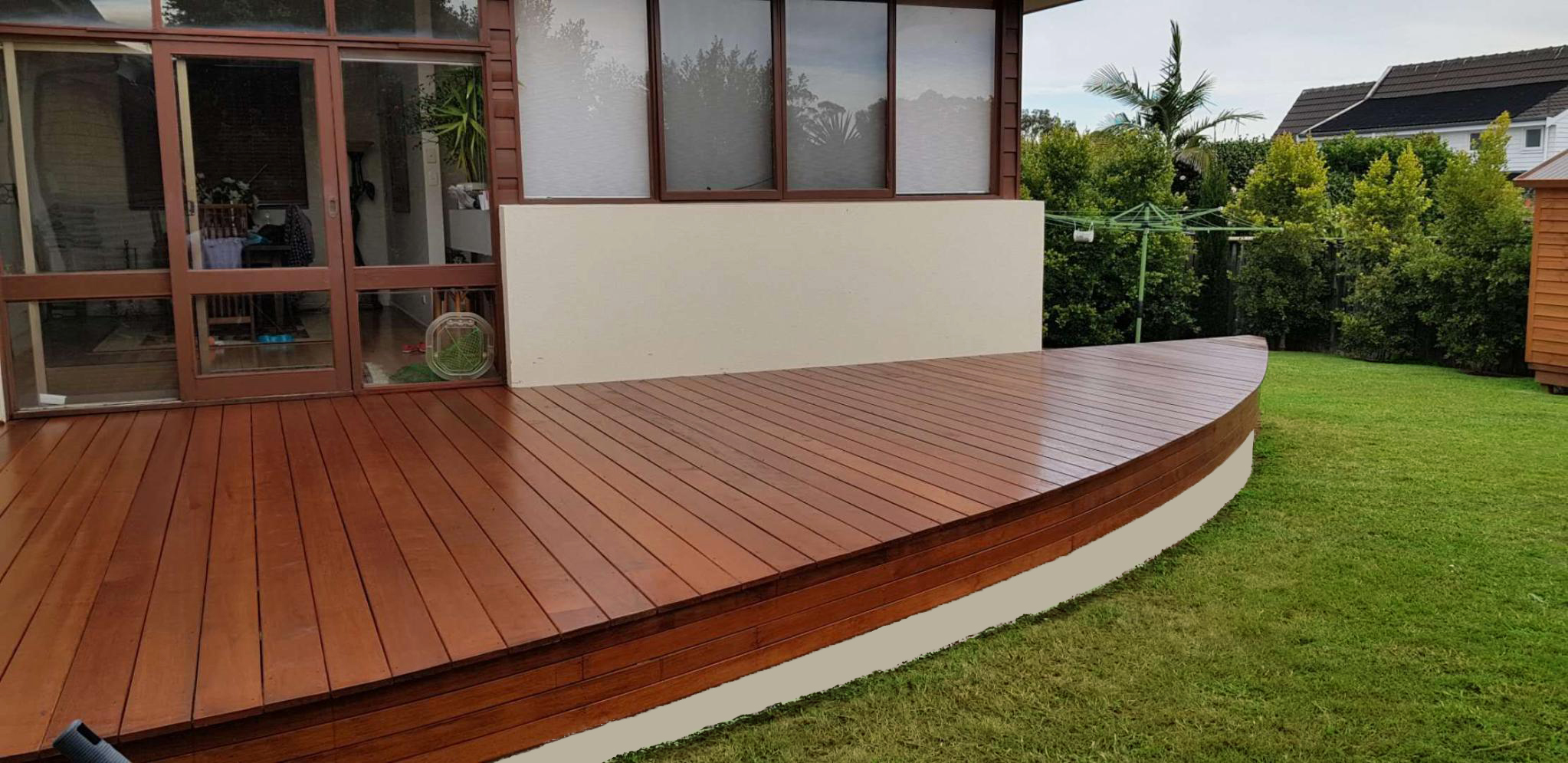 Rounded Timber Deck