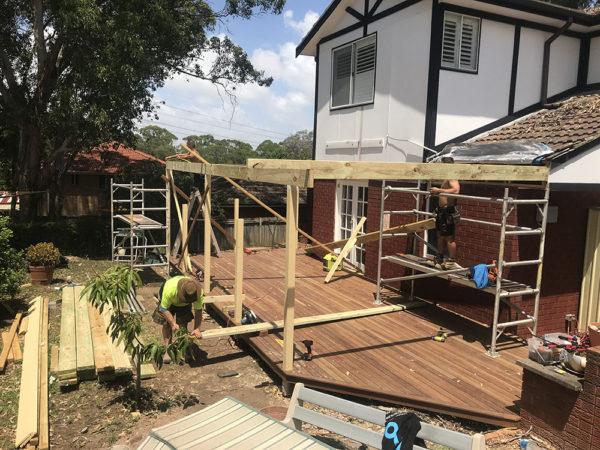 New Timber Pergola in Winston Hills